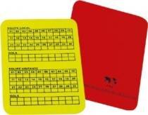 Cartão para árbitro para futebol de campo oficial com 2 - Offside