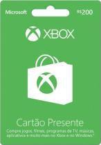 Cartão presente 200 reais Xbox Live para Xbox One e Xbox 360 - Microsoft