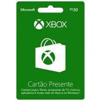 Cartão Presente 30 Reais Xbox Live Microsoft - para Xbox One e Xbox 360