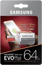 Cartao Samsung Micro Sd Evo Plus 64gb 100mbs Lacrado +adapt -