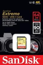 Cartão SanDisk Extreme SDHC 64Gb 90mb / s 4K - SanDisk