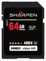 Cartão SD 64Gb Sharpen 60Mb/s Classe 10 -