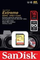 Cartão SDHC Sandisk 16GB Classe 10 Extreme 90MB/s -