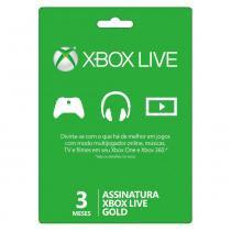 Cartão Xone Live Gold - 3 Meses - Microsoft