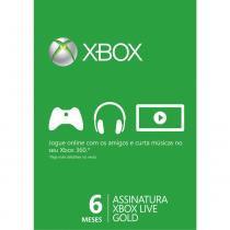 Cartão Xone Live Gold - 6 Meses - Microsoft