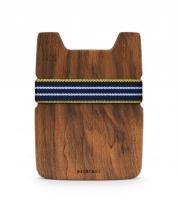 Carteira de Madeira Imbuia - Slim Minimalista  Unisex - Grife Paubrasil -