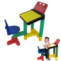 Carteira Legal Mesa Infantil com Cadeira 7600 - Braskit - Braskit