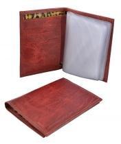 Carteira porta documento de couro vermelha - Rico stucker