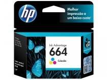 Cartucho de Tinta HP Colorido 664 Original - para HP 3636 HP 1115 HP 2136 HP 3786 HP 3776