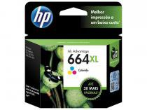 Cartucho de Tinta HP Colorido 664 XL Original -
