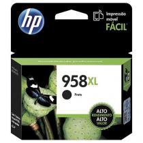 Cartucho de Tinta HP Preto 958 XL - Original para HP 8210 HP 8710 HP 8720