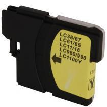 Cartucho lc11 lc38 lc61 lc65 lc67 lc980 lc990 lc1100 compatível dcp-585cw mfc-490cw 990cw ye 13ml - Cartucho compatível premium