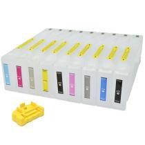 Cartuchos Recarregáveis para Epson Pro e Plotter 7890, 7908, 9908 e 9890 VISUTEC -