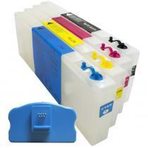 Cartuchos recarregáveis para plotter epson 4450 com chip e reseter - Visutec