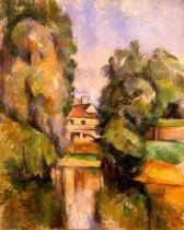 Casa de Campo - Cézanne  Tela Pequena Para Quadro - Santhatela