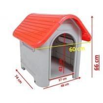 Casa Plástica Desmontável Cães Mec Pet Vermelho Tamanho 3 -