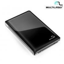 """Case Para HD 2,5"""" Padrão SATA de Até 1TB Preto e Prata USB GA115 - Multilaser -"""