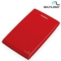 """Case Para HD 2,5"""" Padrão SATA de Até 1TB Vermelho USB GA116  Multilaser -"""