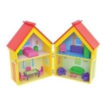 Casinha de boneca yellow house mobiliada junges 412 - Junges