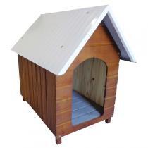 Casinha Para Cachorro - Telhado Galvanizado - Grande - Cerejeira - Indústria beethoven agropet