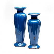 Castiçal Lírio Blue Marine - 2 peças - Soul home