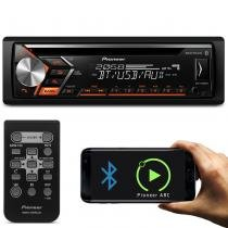 CD Player Automotivo Pioneer DEH-S4080BT 1 Din Bluetooth USB AUX RCA FM MP3 WMA Smartphone Mixtrax -