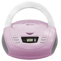 CD Player Portátil Lenoxx BD125LB Lavanda e Branco AM/FM estéreo CD, MP3, USB e Entrada Auxiliar - Lenoxx