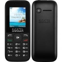 "Celular Alcatel One Touch OT1050 Preto,  Dual Chip, Tela 1.8"", Câmera 0.8MP, Memória 32MB, FM, MP3 - Alcatel"