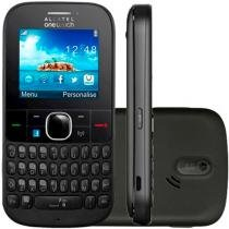 "Celular Alcatel OT 3075, 3G Single, Câm 2MP, Wi-Fi, Mp3, Radio FM, Tela 2.1"" Preto -"
