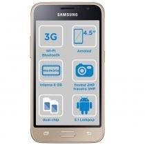 """Celular Android Samsung Galaxy J1 SM-J120 Tela 4,5"""" Rede 3G Memoria 8Gb Camera 5Mp Dual Chip - SM-J105BZWQZTO - dourada - Samsung"""
