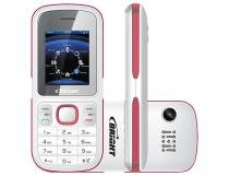 Celular Bright One Dual, Branco e Rosa, 406, Tela de 1.8, 32MB, Bluetooth - Bright