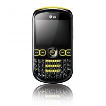 Celular desbloqueado claro lg c300 preto/amarelo qwerty câmera 2mp rádio fm mp3 player bluetooth acesso a redes sociais cartão 2gb -