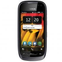 Celular Desbloqueado Nokia 701 Preto com Câmera 8MP Touch Screen 3G Wi-Fi GPS Rádio FM MP3 Bluetooth e Fone de Ouvido -