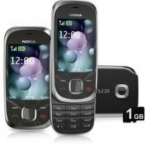 Celular Desbloqueado Nokia 7230 Cinza Câmera 3.2MP MP3 Player Bluetooth Rádio FM Fone de Ouvido Cartão 2GB -
