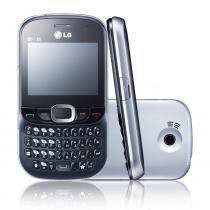 Celular dual chip desbloqueado lg c375 qwerty wi-fi câmera 2mp mp3 player bluetooth cartão 2gb -