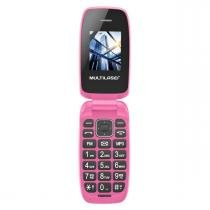 Celular Flip Up Rosa Dual Chip Mp3 P9023 Multilaser -