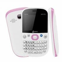 Celular Lenoxx CX920BR Branco e Rosa 3 Chips Tela LCD 2.2 Pol Wi-Fi Bluetooth  Rádio FM  TV Analógica - Lenoxx
