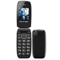 Celular Multilaser Flip Up Preto, Bluetooth, Dual Chip, MP3, rádio FM -