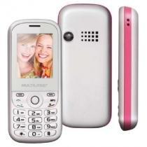 Celular Multilaser Up, Branco e Rosa, P3293, Tela de 1.8, Dual Chip, Bluetooth - Multilaser
