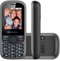 "Celular Multilaser Up Preto E Cinza Com Trial Chip Tela 1.8"" - P3274 Outlet -"