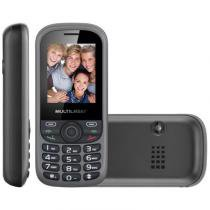 Celular multilaser up, tri chip, bluetooth, câmera, preto/cinza- p3274 - Multilaser