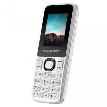 Celular New UP Multilaser Dual Chip Branco - Câmera MP3 Rádio FM Bluetooth Lanterna - P9033 -