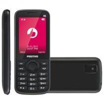 Celular positivo, 128mb, 3g, dual chip, bluetooth, câmera, preto - p30 -