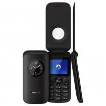 Celular Positivo Flip, Câmera VGA, Bluetooth, Dual Chip, Preto - P40 -