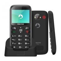 """Celular Positivo P65 Preto tela de 2,3"""", Dual Chip, Câmera VGA com Flash, Bluetooth, Radio e GPS -"""