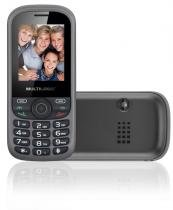 Celular Up 3chip Quad Cam Mp3/4 Fm Preto/cinza - P3274 - Multilaser