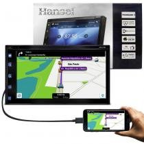 Central Multimídia Clarion Hansei 2 Din Espelhamento Via USB iOS Android Bluetooth TV Digital SD FM -