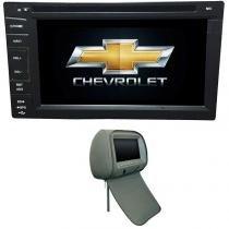 Central Multimidia Cobalt 2012 13 14 15 16 17 GPS TV Camera  Usb Sd card Espelhamento + 1 Encosto - X3automotive