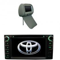 Central Multimídia Corolla 2003 04 05 06 07 TV USB SD GPS + 1 encosto Escravo - X3automotive