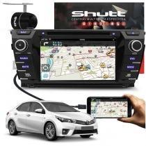 Central Multimídia Corolla 2015 a 2016 Shutt DVD Espelhamento Android TV GPS USB Bluetooth Câmera Ré -